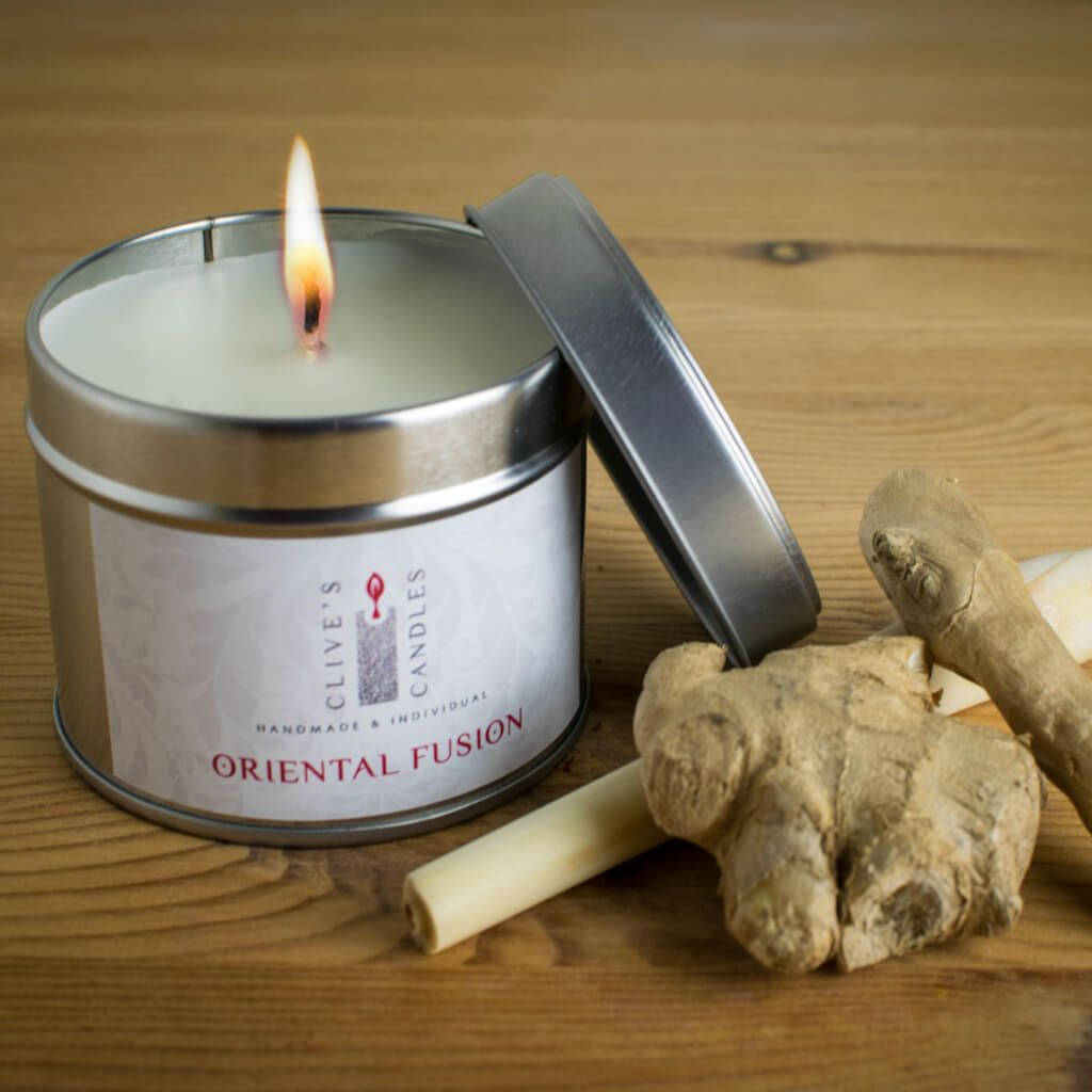 Oriental Fusion Scented Candle, Lemongrass & Ginger