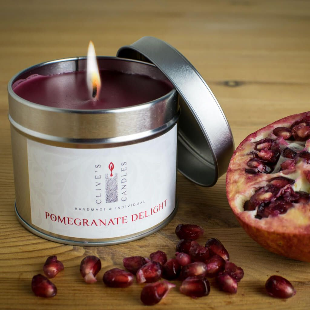 Pomegranate Delight Scented Candle, Pomegranate & Cedarwood