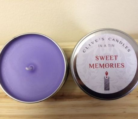 Sweet Memories Scented Candle, Violets
